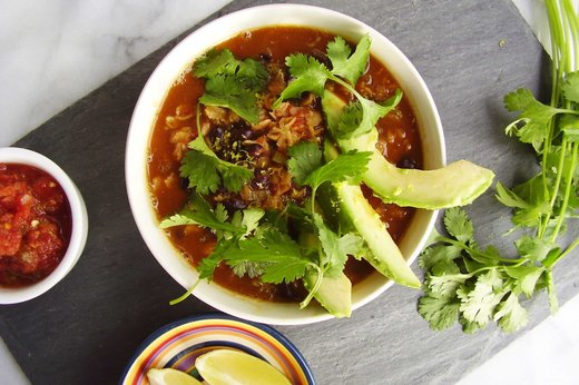 1. Mexican Black Bean and Avocado Oatmeal