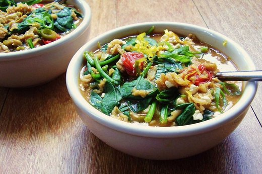6. Vegetable Lovers' Oatmeal
