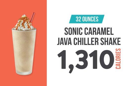 #6: Sonic Caramel Java Chiller Shake