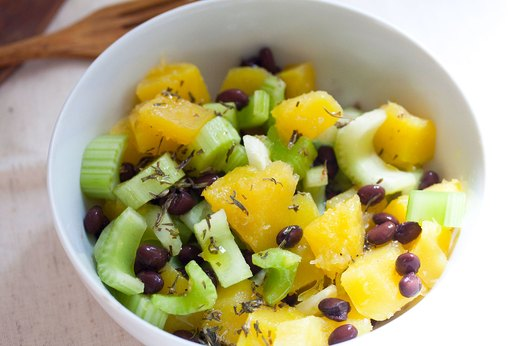 5. Acorn Squash and Black Bean Salad