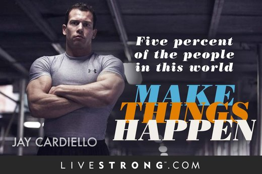 """Five percent of the people in this world make things happen."""