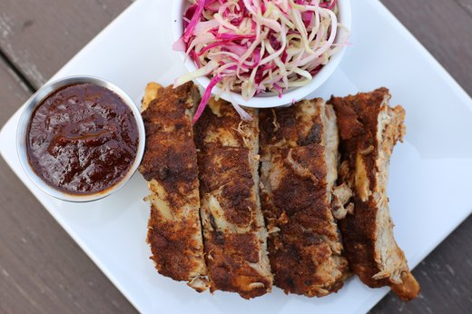 9. Under-an-Hour Instant Pot BBQ Baby Back Ribs With Vinegar Slaw