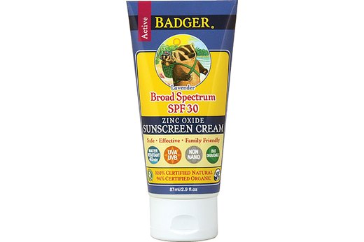 10. BEST SCENTED SUNSCREEN: Badger Sunscreen Cream, Lavender, SPF 30