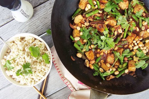 8. Asparagus, Shiitake and Tempeh Stir-Fry