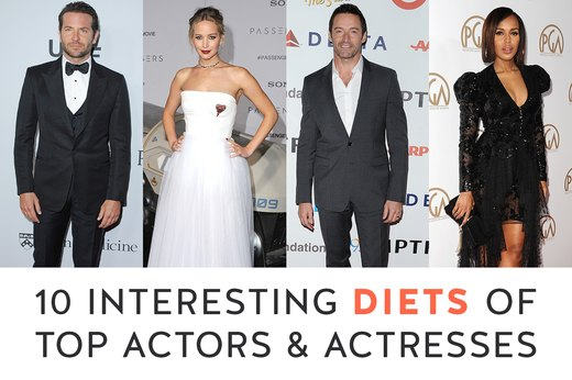 10 Interesting Diets of Top Actors and Actresses