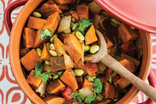 4. Indian Sweet Potato Edamame Stew