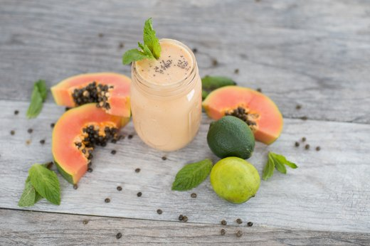 9. Papaya, Yogurt and Peppermint