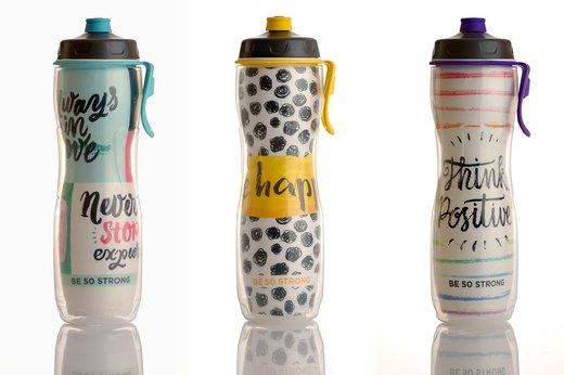 8. 50 Strong Inspirational Water Bottle