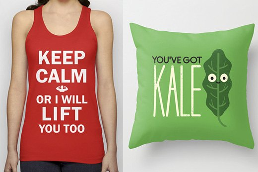 18. Fitness Inspiration Pillows, T-Shirts, Hoodies, iPhone Cases and more