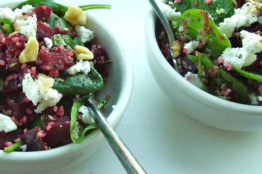 3. Bulgur, Beets and Goat Cheese Bowl