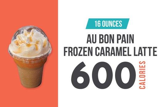 #9 (tie): Au Bon Pain Frozen Caramel Latte