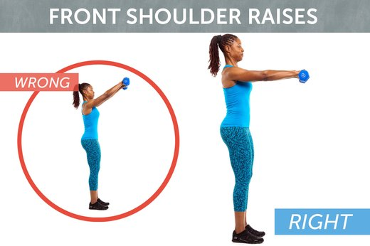 6. Front and Lateral Shoulder Raises