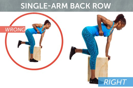 1. Single-Arm Back Row