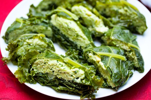 5. Kale Pockets With Edamame Spread