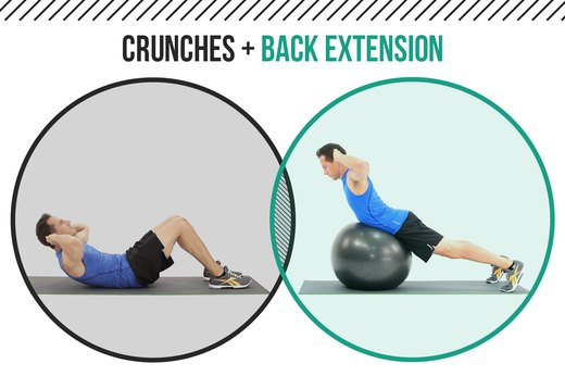 10. Crunches + Back Extensions