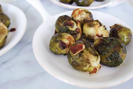 2. Balsamic Glazed Brussels Sprouts With Garlic
