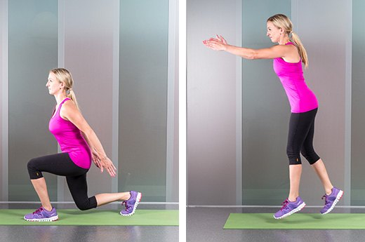 9. Jumping Lunges