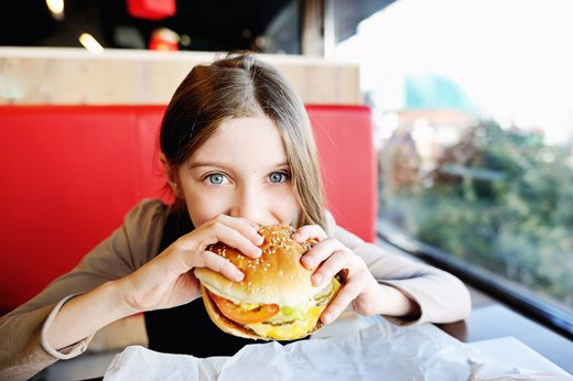 7. Fast-food companies target children.