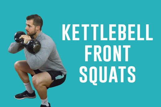 1. Kettlebell Front Squats