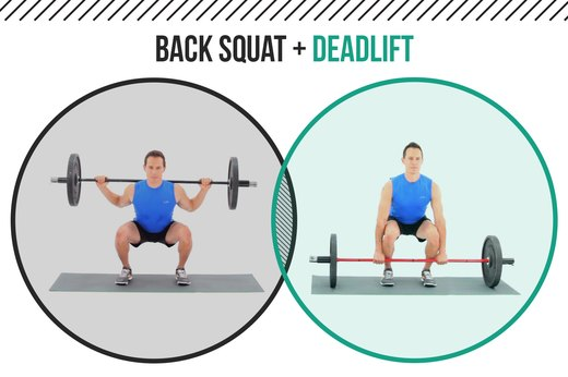 8. Back Squats + Deadlifts