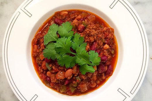 Lean Two-Bean Bison Chili