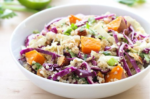 3. Crunchy Quinoa Buddha Bowl With Ginger-Almond Dressing