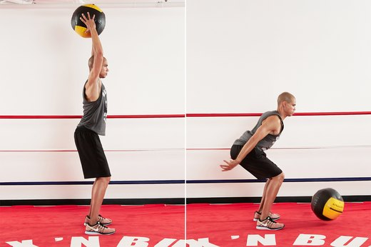 13. Medicine Ball Overhead Slams