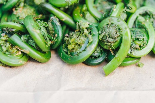 9. Fiddleheads