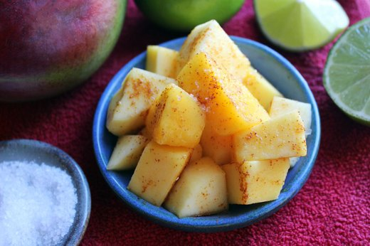 5. Chopped Mango With Chili, Lime and Salt