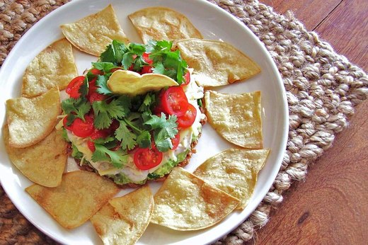 6. Mexican Six-Layer Dip Dish