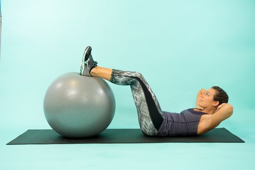 How to Do a Swiss Ball Reverse Crunch