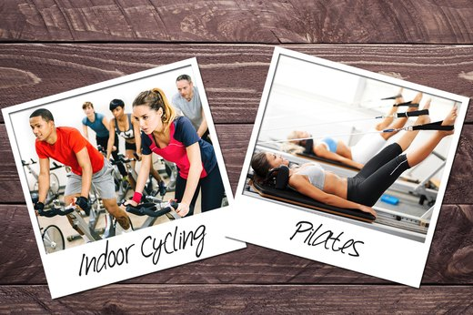 1. Indoor Cycling + Pilates