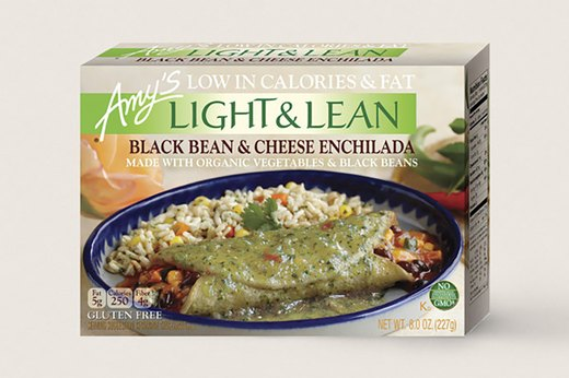 2. BETTER: Amy's Light and Lean Black Bean and Cheese Enchilada