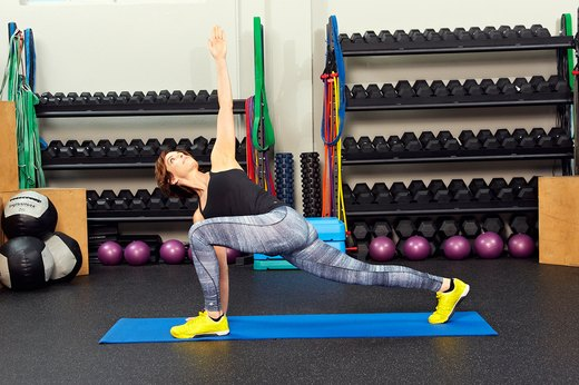 Warm-Up: High-Lunge Core Rotation