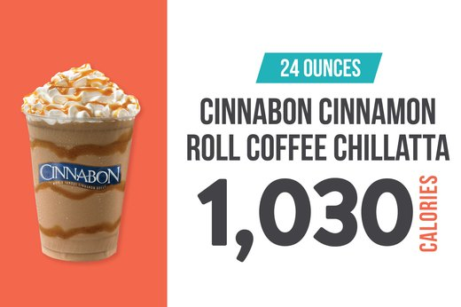 2. Cinnabon Cinnamon Roll Coffee Chillatta