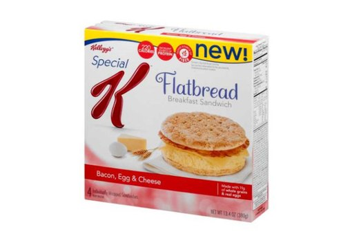 WORST: Kellogg's Special K® Bacon, Egg and Cheese Flatbread Breakfast Sandwich