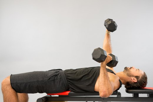 How to Do an Alternate-Arm Dumbbell Bench Press