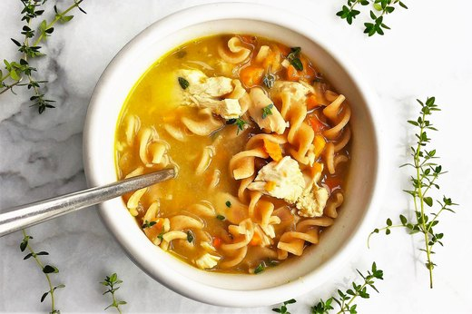 4. Healthy Homestyle Rotisserie Chicken Noodle Soup