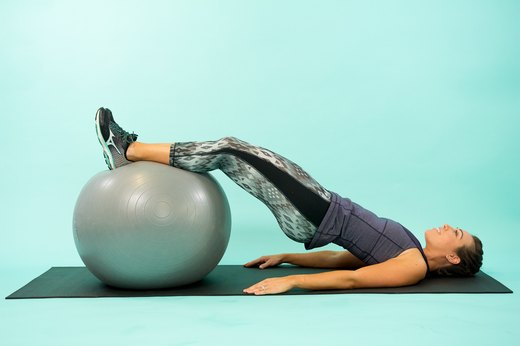 How to Do a Swiss Ball Glute Raise