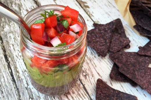 8. 3-Layer Mexican Dip in a Jar