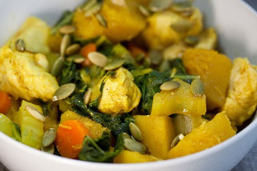 2. Curried Chicken and Acorn Squash