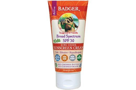4. BEST KIDS' SUNSCREEN: Badger Kids Sunscreen Cream, SPF 30