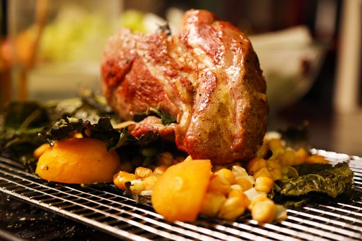 6. Moroccan Lamb Roast With Chickpeas and Apricots