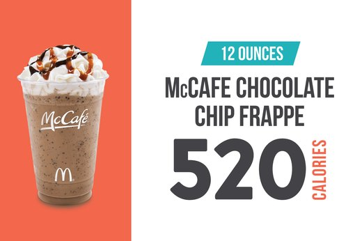 #4: McCafe (McDonald's) Chocolate Chip Frappe