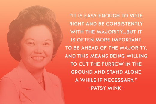 8. Patsy Takemoto Mink: Politician