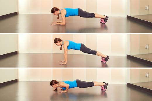 9. Plank to Push-Up