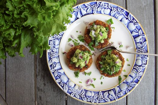 5. Sweet Potato Sliders With Guacamole
