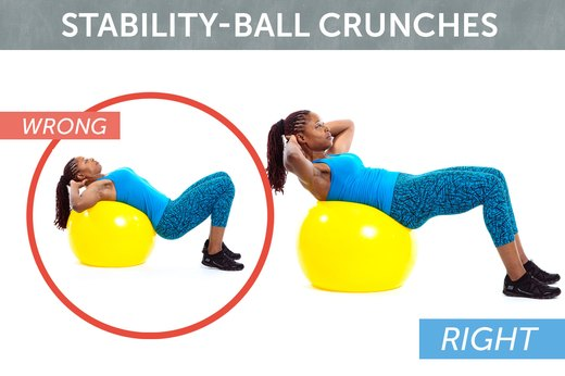 9. Stability-Ball Crunches