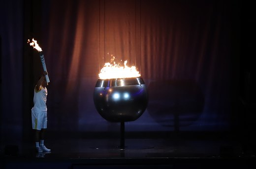 9. The Lighting of the Olympic Flame