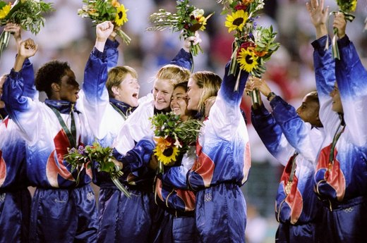 7. USA Triumphs in First Women's Soccer Tournament (1996 Atlanta)